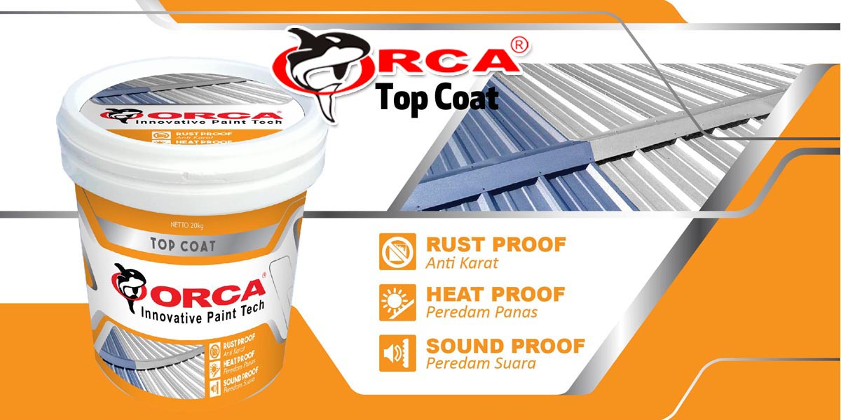 orca top coat cat peredam panas